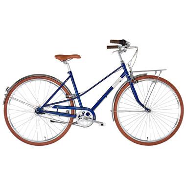 Vélo Hollandais CREME CAFERACER SOLO DISC TRAPEZ Bleu 2019